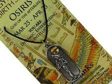 Egyptian Zodiac; Osiris - God of the Afterlife, 2 Sided Pendant #STA-EBS103