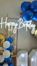 More details for medium happy birthday neon sign 80cm x 34cm-hire only!!!