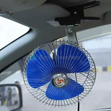 """8"""" 12v Auto Car Truck Cooling Oscillating Fan with Clip Smoke Lighter Plug 6Go"""