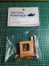 THE TANK WORKSHOP 1019 - SQUARE STONE BLOCK WELL WITH BUCKET - 1/35 RESIN KIT