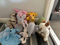 JellyCat Next Disney Tesco M&S Boots M&P Bundle Doudou Soft Toys X 10 Comforters