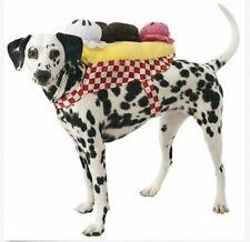 Ice Cream Sundae Dog Costume Large XL Halloween Plush Banana Split NWT