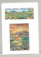 Lesotho #720-721 Mountains, Waterfalls 1v Strip of 4 & 1v S/S Imperf Proofs