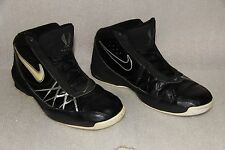 Nike Air Flight 2008 Black Leather High Top Basket Ball Shoes