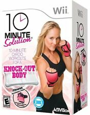 10 Minute Solution w/ Weight Gloves Workout Fitness, Nintendo Wii by Activision