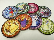 A set of 8 Kingdom Hearts Stained glass Sora and Princess Neoprene Coasters