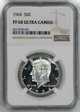 1964 KENNEDY HALF DOLLAR 50C NGC CERTIFIED PF 68 PROOF UNC - ULTRA CAMEO (001)