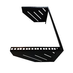 "6U Steel Vertical Wall Mount / Under Desk Rack Bracket (Black) 19"" Application"
