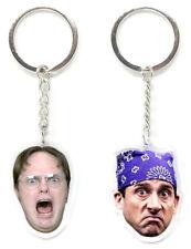 Dwight Schrute & Michael Scott Keychains - The Office Dunder Mifflin Keychain