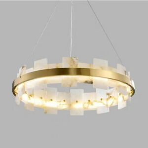 Modern Luxury Copper Marble Chandelier Home Living Room Bedroom Pendant Lights