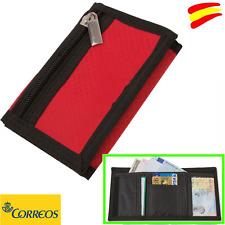 55876123b CARTERA MONEDERO ROJA CIERRE VELCRO CON CREMALLERA EXTERIOR