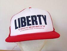 Vintage Liberty University Virginia Mesh Trucker Baseball Cap Hat adjst Snapback
