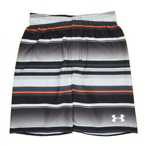 Under Armour Boys Black & Grey Striped Board Short Size 5