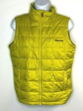 Marmot Womens Lime Green Duck Down Vest Puffy Puffer Jacket Hiking Ski Large