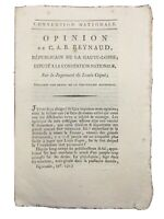 Procès de Louis Capet 1792 Reynaud Député de la Haute Loire Convention Louis XVI