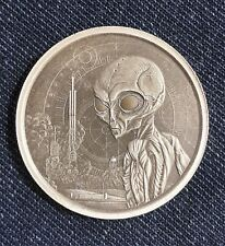 New listing 2021 Ghana Alien ANTIQUE 1 oz Silver Coin - Limited Mintage 3,000!  SOLD OUT!!