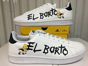 RARE Mens Adidas x The Simpsons Advantage El Barto Bart Graffiti Shoe 12 GZ5306