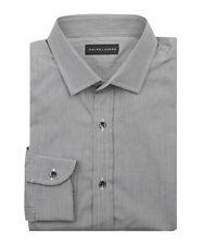Ralph Lauren Camisa para hombre Etiqueta Negra Talla 17.5 Negro y Blanco Camisa De Regalo Para él