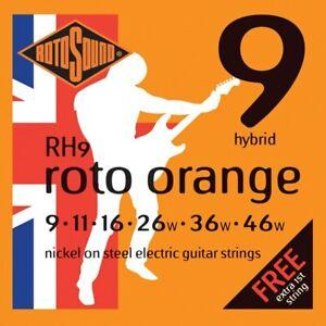 Rotosound RH9 Roto Orange Electric String Set 9 - 46