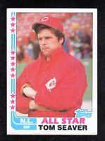 """1982 Topps #346 Tom Seaver All-Star Cincinnati Reds HOF Baseball Card  """"mrp""""  NM"""