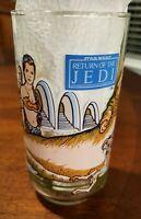 Star Wars Return of the Jedi Jabba The Hut Glass Burger King Coca-Cola 1983