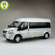 1/18 China Ford Transit MPV Business Vehicle Car Diecast Car Model Silver