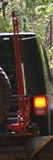 Fab Fours M1450-1 Blk Steel Hi-Lift Jack Mnt Rear Tire Carrier for Jeep Wrangler