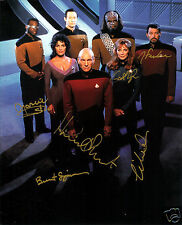 Star Trek The Next Generation Cast Autograph Signed PP Photo Poster