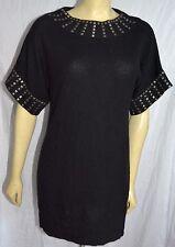 Emma & IVY BLACK 100% Cashmere tunic short dress  Sweater S