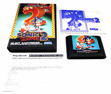 SONIC 2 THE HEDGEHOG SEGA MEGA DRIVE OZISOFT RARE GAME2 SUIT SEGA COLLECTOR +FP!