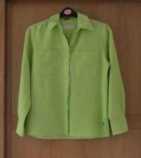 Ladies Artigiano Green Long Sleeve Linen Top Size M