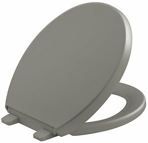 KOHLER K-4009-K4 Reveal Quiet Round Closed Toilet Seat with Bumpers in Cashmere