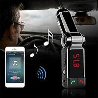 Car Kit MP3 Music Player Wireless Bluetooth FM Transmitter With 2 USB Port UP@