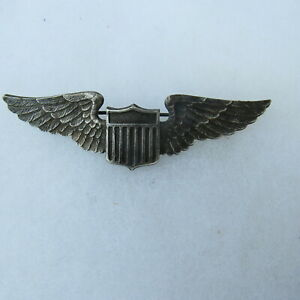 Vintage 1930s Era United States US Army Air Corps Pilot Wings Pinback Pin