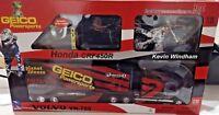 Honda Team GEICO Race Truck & Kevin Windham Motocross Bike NEW New Ray Model
