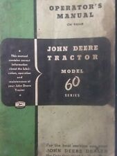 John Deere 60 series Agricultural Farm Tractor Owner Operator's & Service Manual