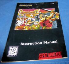 SNES INSTRUCTIONS & MAP ONLY BREATH OF FIRE II Good Condition