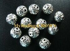 80 pcs Tibetan Silver ROUND spacer beads 7mm FC930