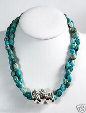 Bat-Ami African Opal Stone Necklace w/Sterling Silver Slide Bead NE1189