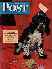 1944 Saturday Evening Post February 19-Butch Cocker Spaniel; Rabaul;Alaska Army