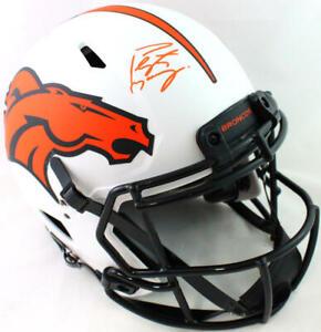 Peyton Manning Signed Broncos Lunar Speed Authentic F/S Helmet- Fanatics *Orange