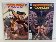 DC Comics Dark Horse Comics Wonder Woman Conan #1 Set of 2 Covers 9.6+ 1st Print