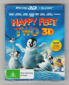 Happy Feet Two 3D Blu-ray + Blu-ray (2-Disc Set Slip Cover) - Brand New & Sealed