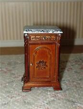 MINIATURE DOLLHOUSE 1:12 SCALE-HAND CARVED MAULDIE MARBLE NIGHT STAND - P6301A