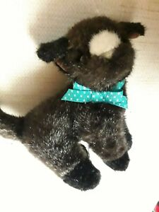Cat Plush Gund Brown fur Bow Vintage Toy 1993