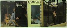 Gordon Lightfoot LP Vinyl Record Lot: Cold on the Shoulder + Sundown +++