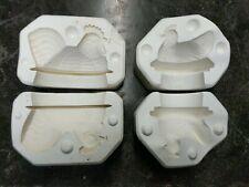 2 Vtg Ceramic Pottery Slip Cast Molds Chicken lids Scioto S-431 and S-561
