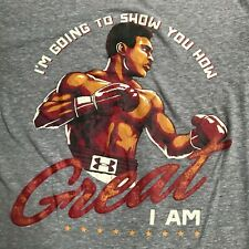 Under Armour Muhammad Ali T-Shirt Mens Small Gray Boxing Show You How Great I Am