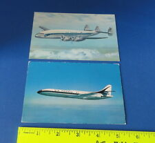 (2) Old Aviation Postcards - Air France Airlines Planes