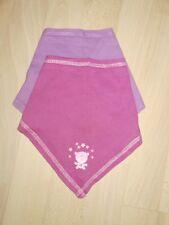 2 Baby-Halstücher für Mädchen lila/pink zum Binden